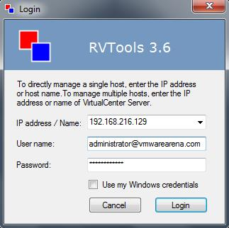 Free Tools : New Version of RVTools Released