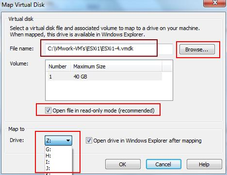 VMDK Disk-Mapping Window machine-2