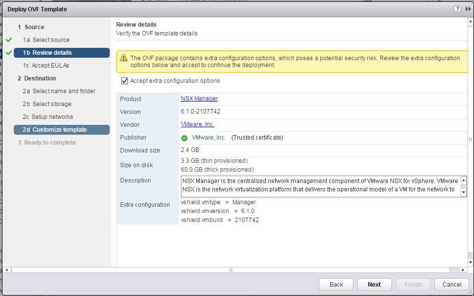 NSX Manager Deployment -2