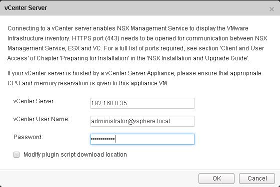 NSX integration with vCenter-6