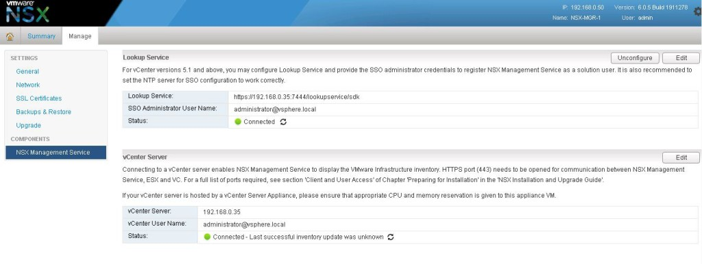 NSX integration with vCenter-7
