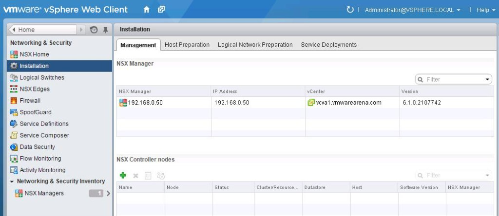 NSX integration with vCenter-9