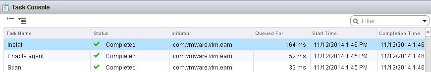 VMWare NSX VIB Install tasks