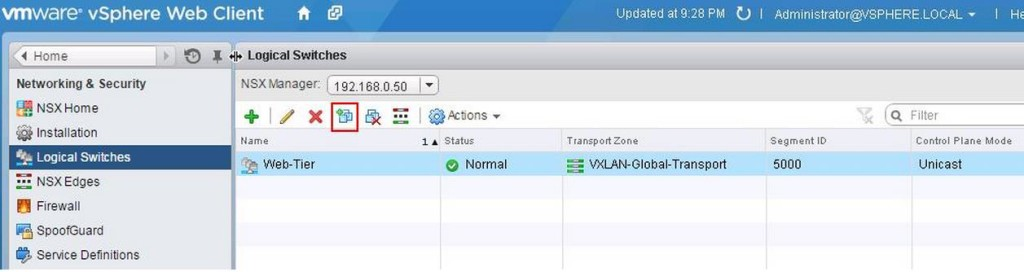 VMware NSX-Logical Switch Creation -4-1
