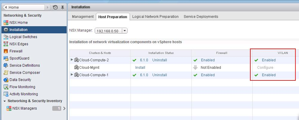 VMware NSX Installation Part 8 - Configuring VXLAN on the