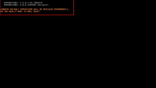 ESXi Recovery or Rollback