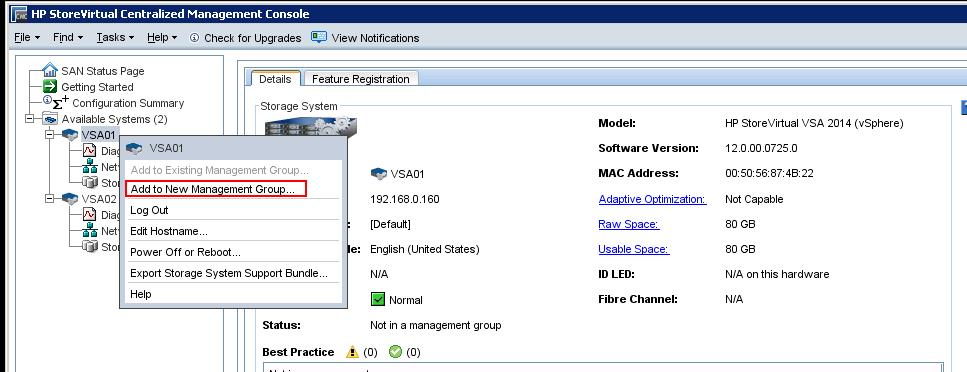 HP StoreVirtual Mgmt Group Configuration_4