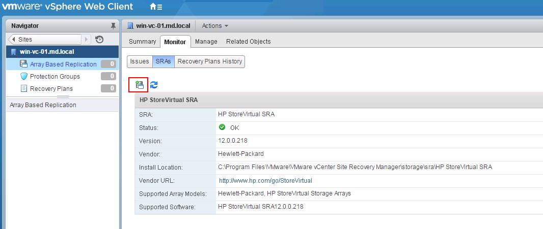 SRM Array Manager