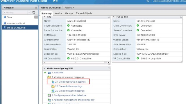 SRM 6.0 _Configre Resource Mapping_1