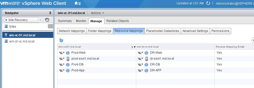 SRM Resource Mappings