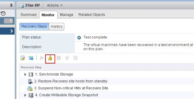 VMware Site Recovery Manager (SRM 6.0) Part 13 – Cleaning up Test Recovery