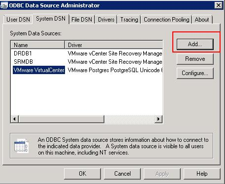 Create ODBC Connection for Horizon View Composer Installation _2