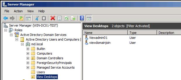 virtual desktop infrastructure Configuration -Horizon View Administrator