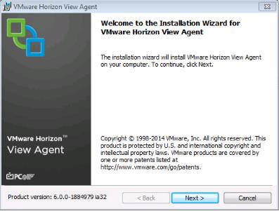 VMware View Agent Download and Install on Win7 Master Image