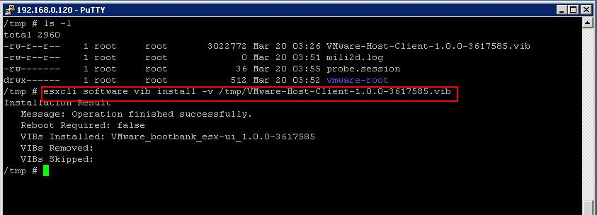 Download and Install VMware Host Client