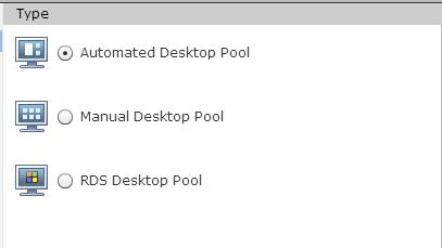 VMware Virtual Desktop Pools