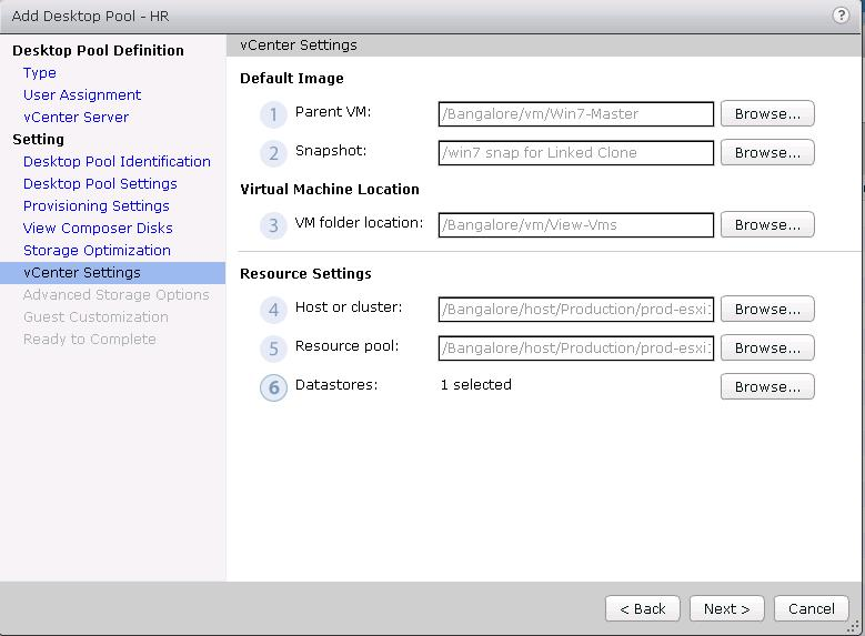 VMware View _Deploying Linked Clones _10