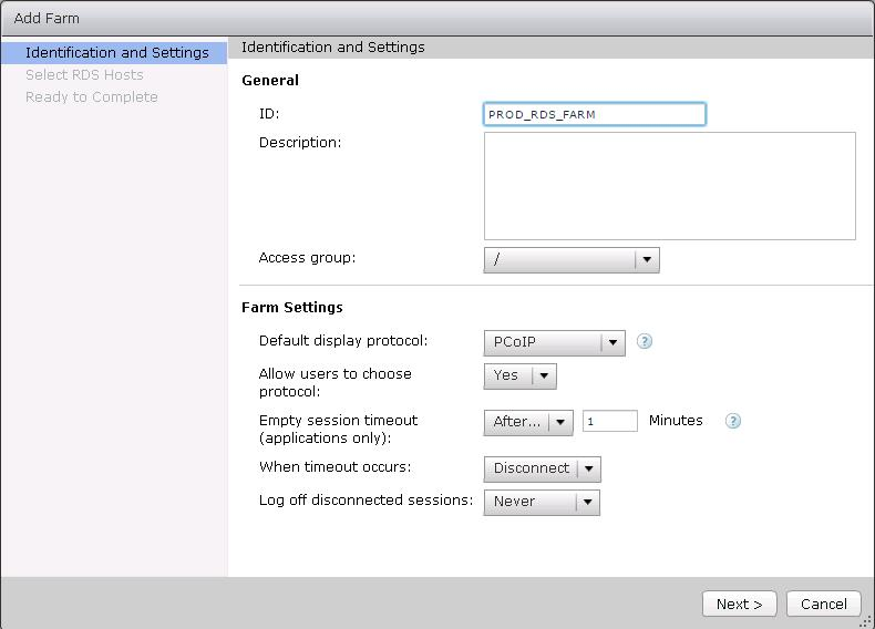 Creating Remote Desktop Session Host Farm
