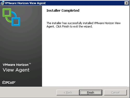 VMware View Agent Installation on RDS host