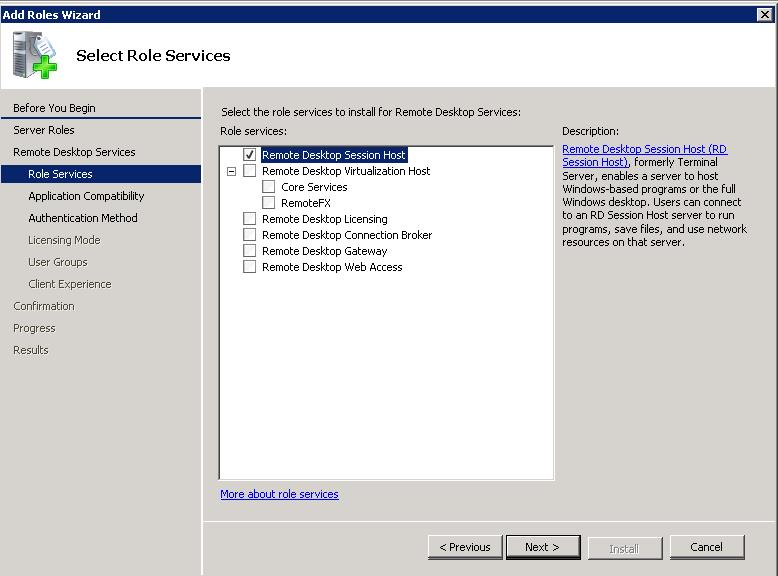 Install Remote Desktop Session Host to Setup RDS Host Farm