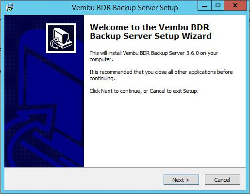 Vembu BDR Backup Server