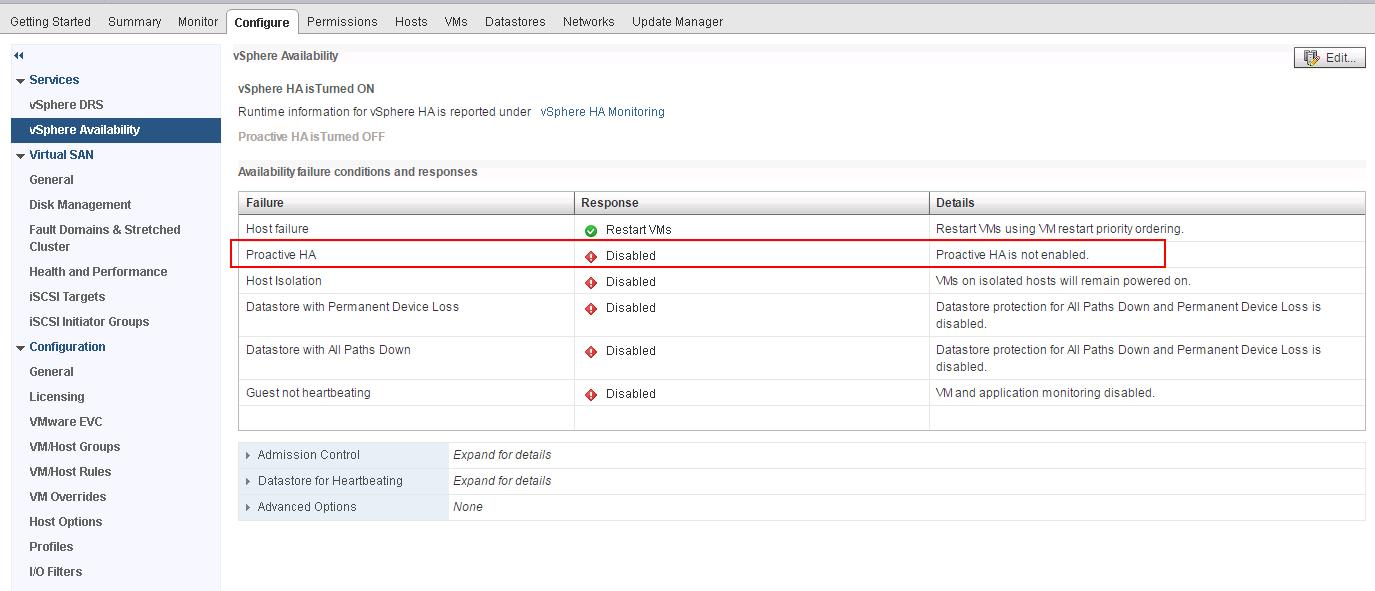 vSphere 6.5 High Availability Proactive HA