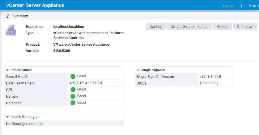 Upgrade vCenter Server appliance 6.5 to vCSA 6.5b _10