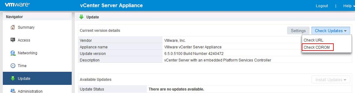 Upgrade vCenter Server appliance 6.5 to vCSA 6.5b _3