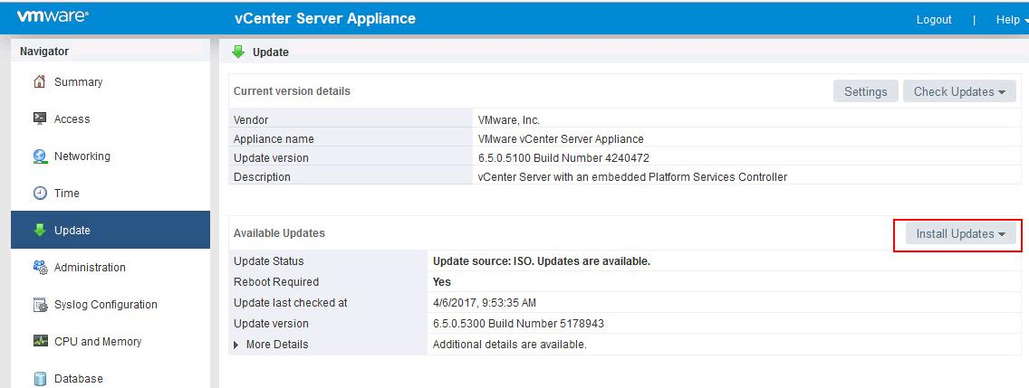 Upgrade vCenter Server appliance 6.5 to vCSA 6.5b _4