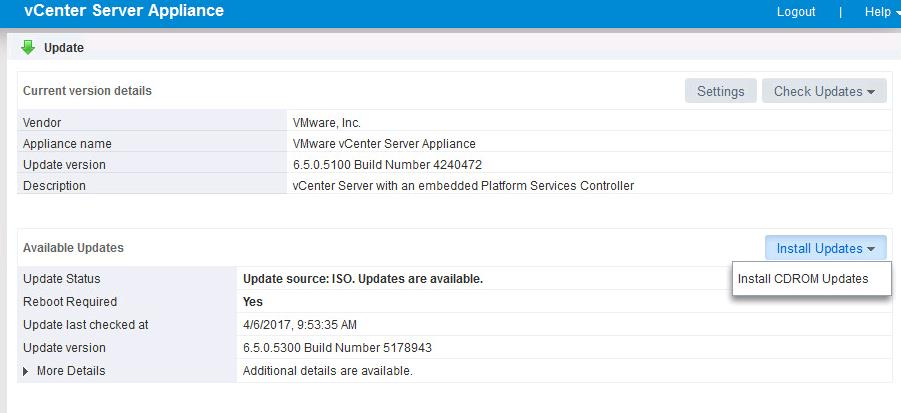 Upgrade vCenter Server appliance 6.5 to vCSA 6.5b _5