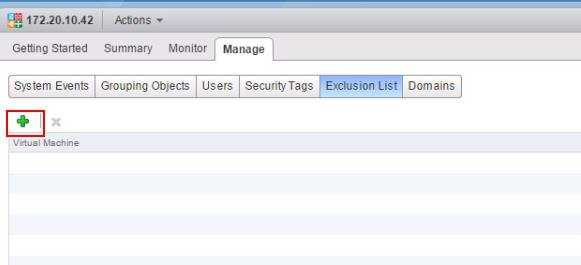 Exclude virtual machines from NSX Distributed Firewall Protection