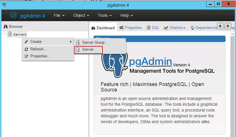 Manage vCSA Postgres Database using Pgadmin_4