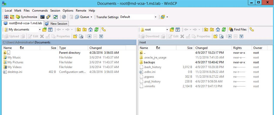 WinSCP Connection to VCSA failed_4
