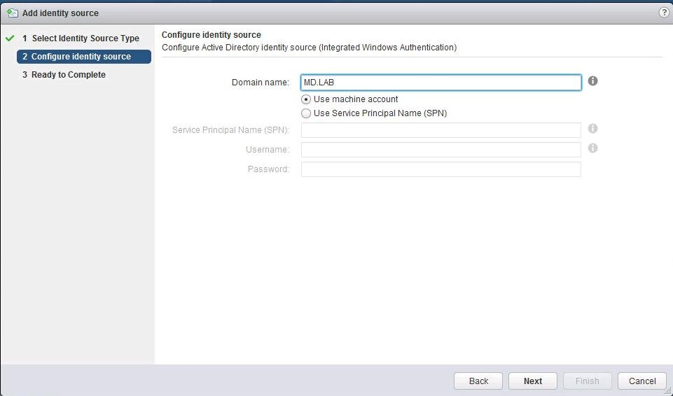 Add Active Directory Authentication to vCenter 6.5_3