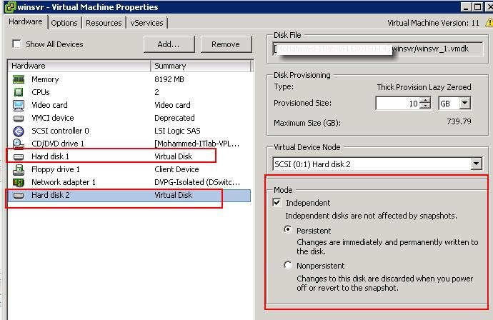 Exclude VM disk from VMware Snapshot_2