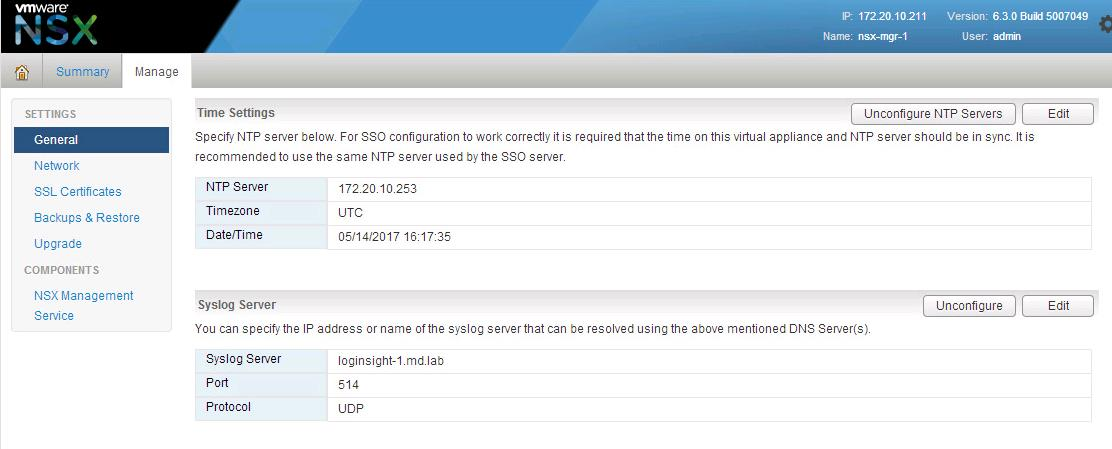 Forward NSX Manger logs to Log Insight_4