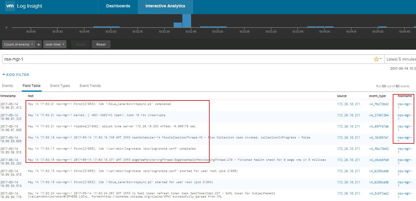 Forward NSX Manger logs to Log Insight_5