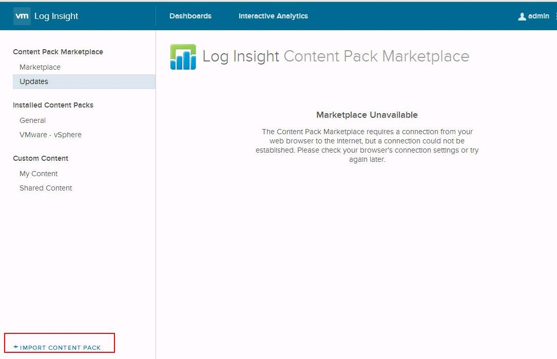 Install the vRealize Log Insight Content Pack for NSX for vSphere_2