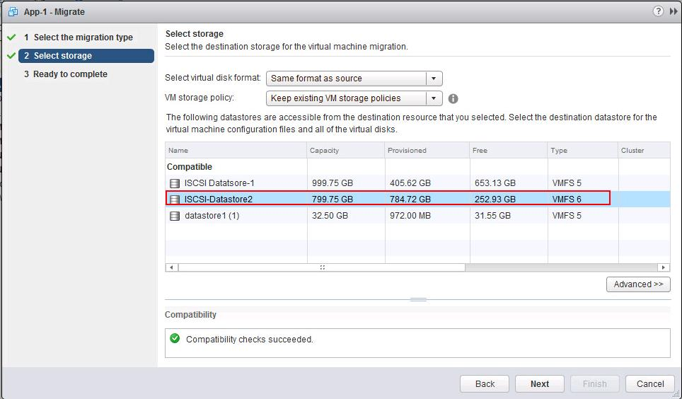 Storage vMotion of VMware Snapshot_2