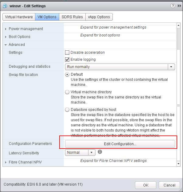 control maximum number of VMware snapshots