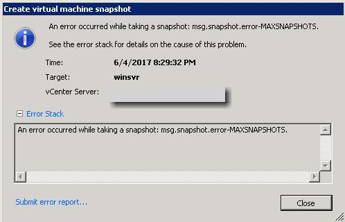 control maximum number of VMware snapshots_4