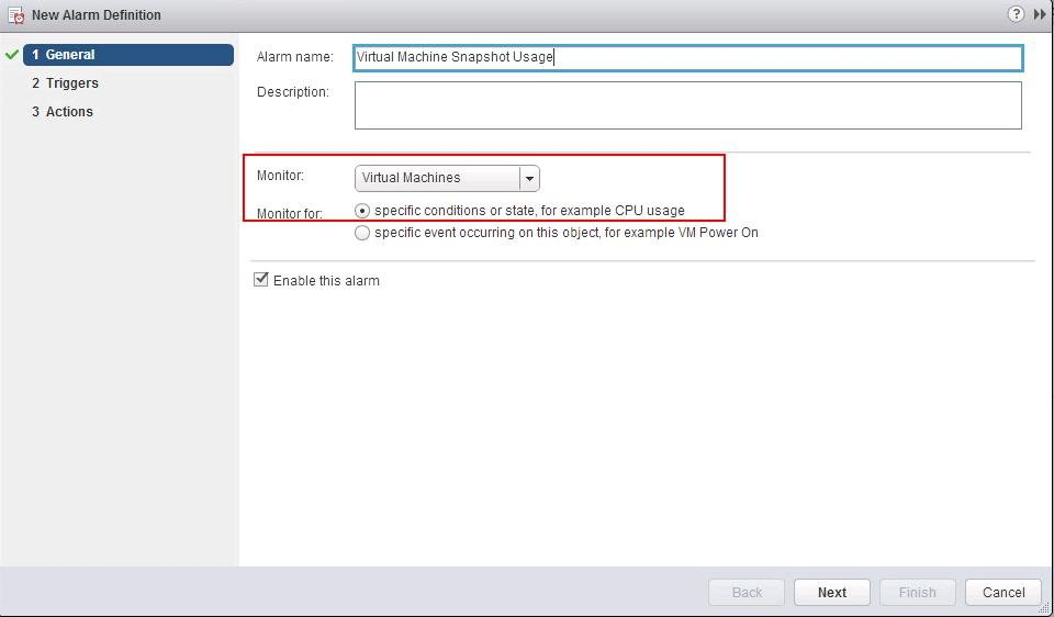 vCenter Alarm for VMware Snapshot Usage_2