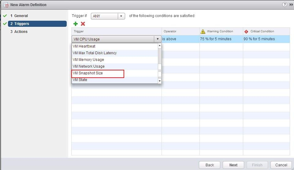 vCenter Alarm for VMware Snapshot Usage_3