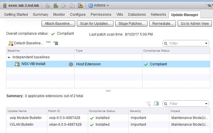 Install Vmware NSX VIBS using Update Manager_14