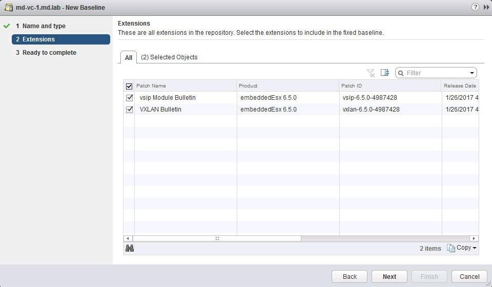 Install Vmware NSX VIBS using Update Manager_7