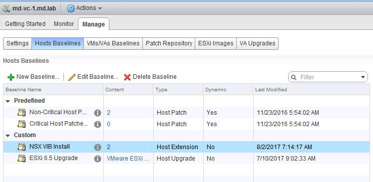 Install Vmware NSX VIBS using Update Manager_8