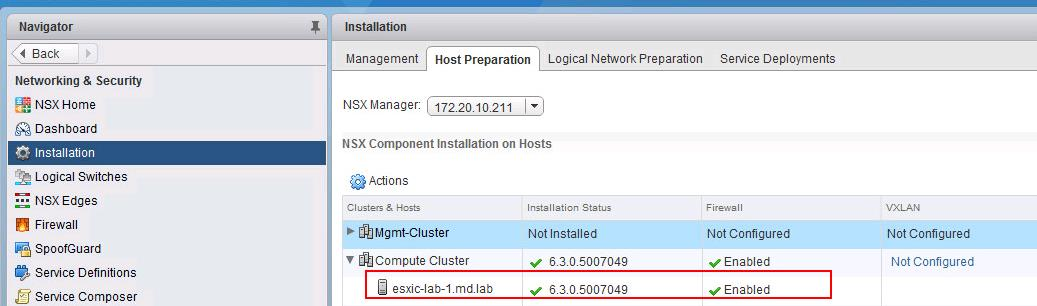 Manually install VMware NSX 6.3 VIBS on ESXI 6.5_6