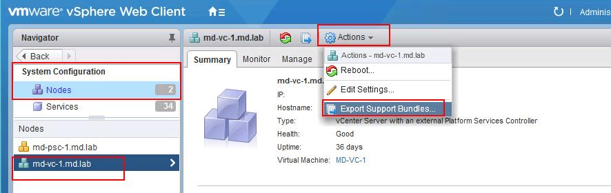 3 simple ways to generate vCenter Support bundle in vCenter Server appliance