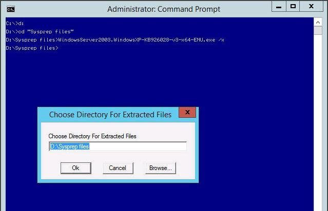 How to Copy Sysprep Files to vCenter Server Appliance