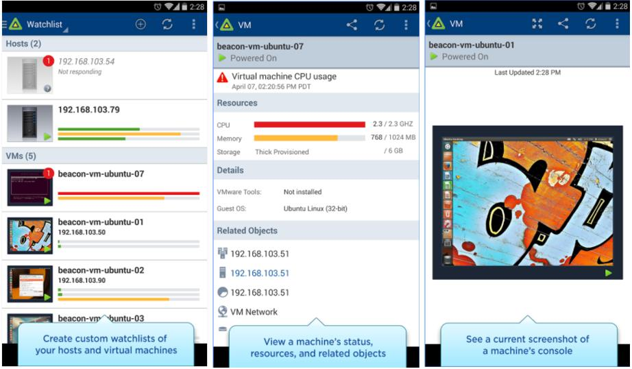 Top 5 Andriod Mobile App for VMware Administrators_vSphere Mobile Watchlist